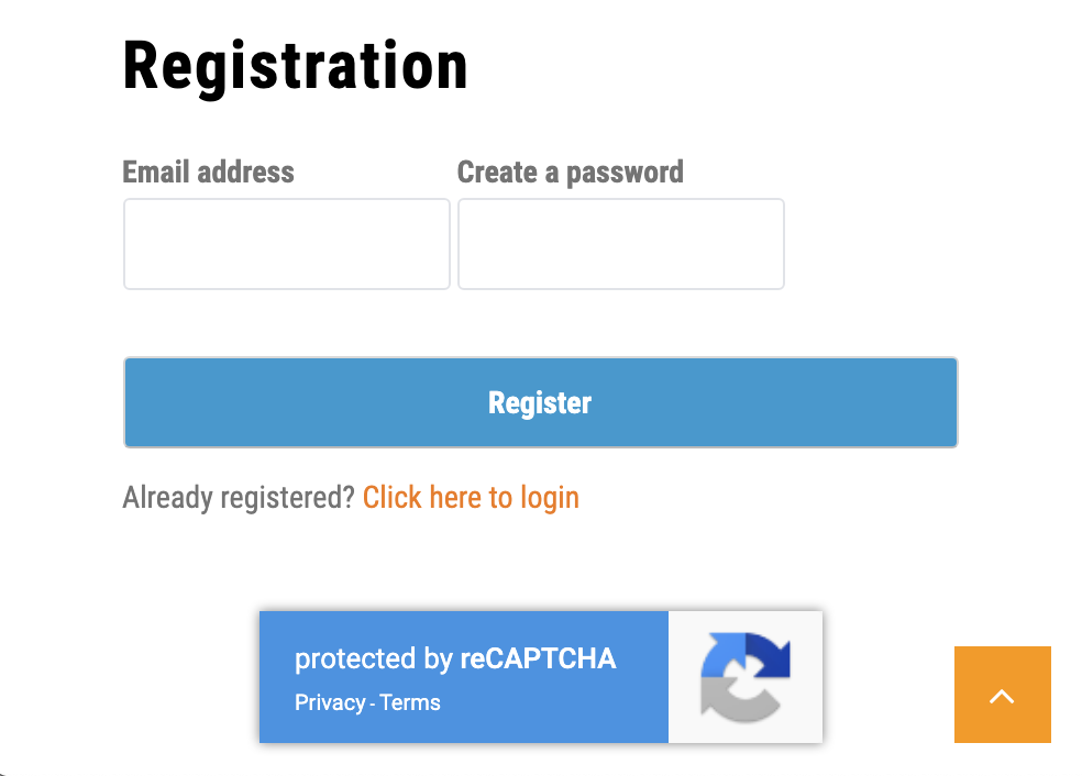Shows Inline reCAPTCHA position