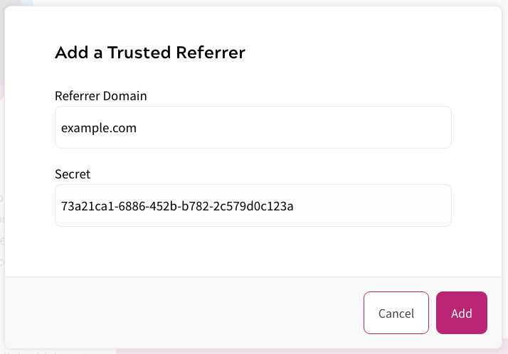 Trusted Referrer Set Up within Zephr Bypasses