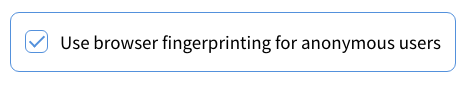 Allow browser fingerprinting checkbox