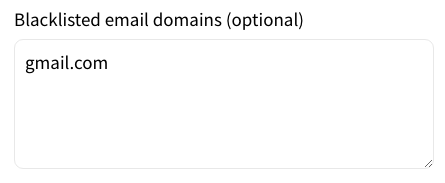 List of Blacklisted Domain Names