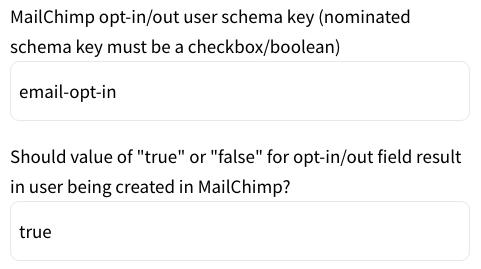 Mailchimp Opt-In Set Up