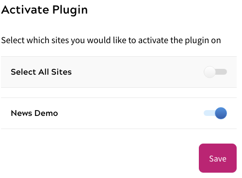 Mailchimp - Plugin Activation