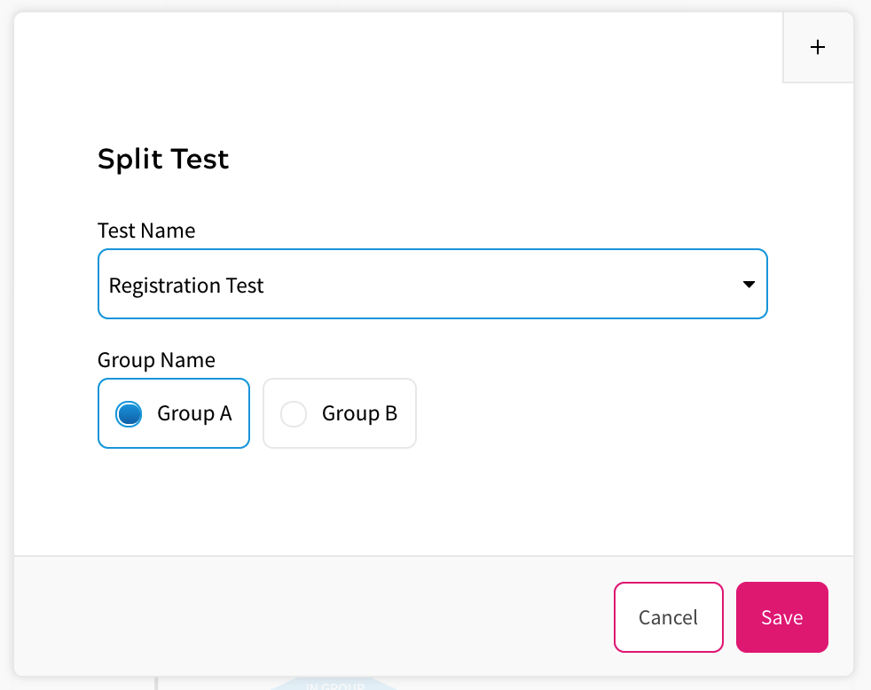 Split Tests in Rules - Selecting Test Group