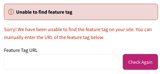 No Feature Tags Found