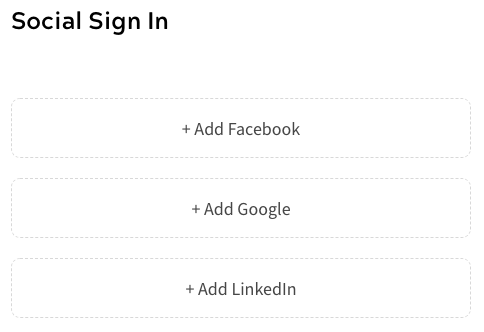 Social Sign In - Empty Credentials