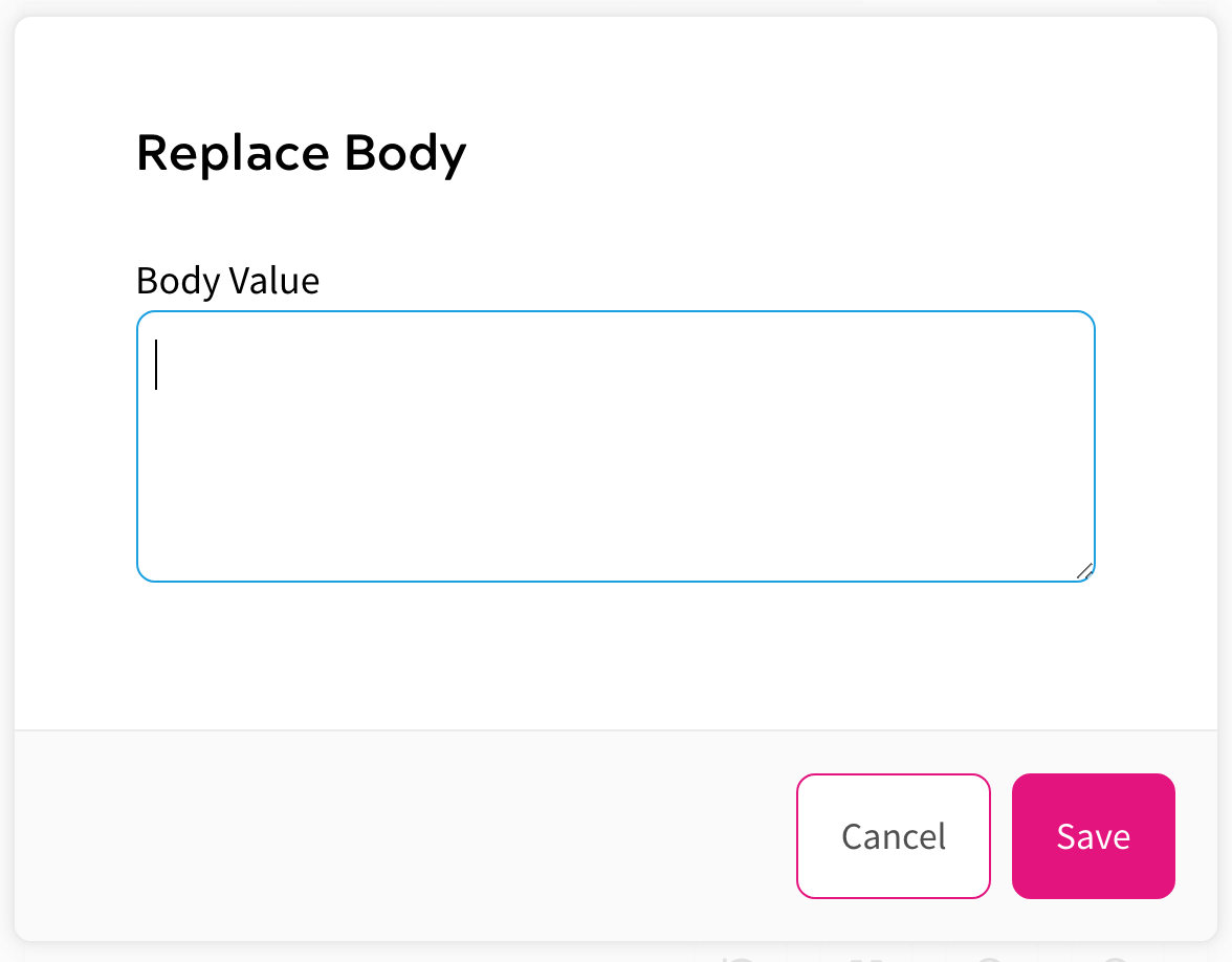 Request Rules - Replace Body