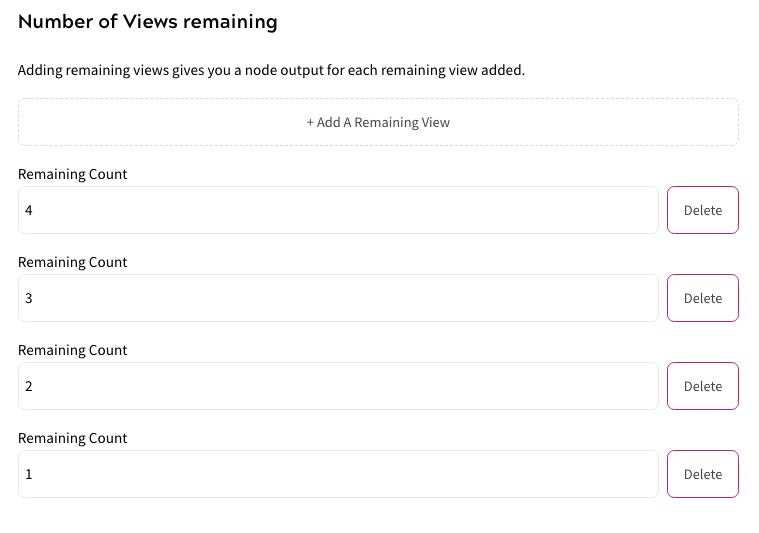 Custom Variable - Number of Views Remaining