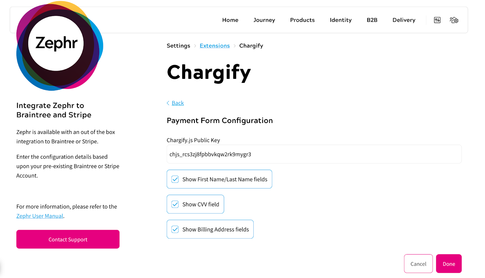 Chargify - Payment Form Config