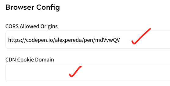 CORS Allowed Origins and Cookie Domains